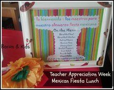 teacher appreciation week mexican fiesta lunch