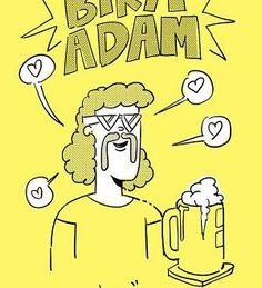 Badana Stüdyo – Bira Adam karikatürleri