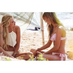 Behati Prinsloo Gets Very Sexy Cheeky On Victoria's Secret Swim... ❤ liked on Polyvore
