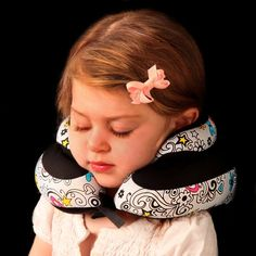 Travel Baby Pillow Black Rear/Forward Facing for Car Travel Adjustable Unisex