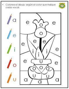 ¿Qué puedo hacer hoy?: Vocales Alphabet Worksheets, Alphabet Activities, Preschool Worksheets, Preschool Learning, Preschool Activities, Spanish Teaching Resources, Kids Education, Homeschool, Material