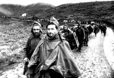 Greek troops march towards the front at Korçë during the Greco-Italian War. After Italian forces occupied Albania in Fascist Italy's ambitions grew; Italian Head of Government and Duce of. Greek Soldier, Greek Warrior, Troops, Soldiers, Army & Navy, In Ancient Times, Military History, Armed Forces, Greece