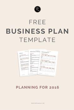 internet business plan template