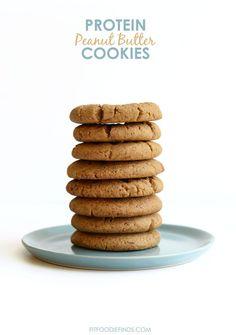 Grain-Free Protein Peanut Butter Cookies #healthy #glutenfree