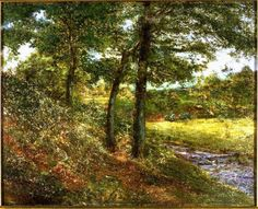 Alexander Wyant (United States, 1836-1892). Landscape with Three Trees and a Brook, c. 1856-1892. The University of Michigan Museum of Art, Michigan. Gift of Gilbert M. Frimet, 1983. http://www.umma.umich.edu