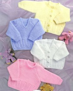 Hey, I found this really awesome Etsy listing at https://www.etsy.com/listing/219503775/knit-baby-cardigan-and-sweater-vintage