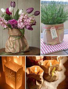 Saco de papel kraft: material curinga pra criar