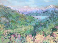 Looking Down - Original Fine Art By Ginny Stocker