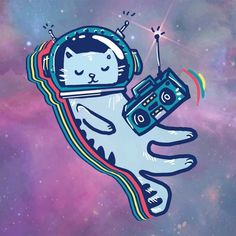 Find Cat Space Astronaut Flying Space Listen stock images in HD and millions of other royalty-free stock photos, illustrations and vectors in the Shutterstock collection. Space Illustration, Illustrations, Logo Gato, Outer Space Wallpaper, Cats Musical, Space Cat, Kids Prints, Cat Drawing, Galaxy