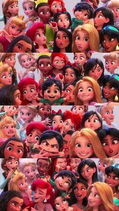 All disney princess from wreck-it ralph 2 trailer - Disney princess wallpaper -