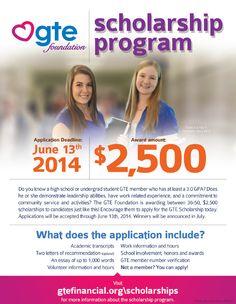 $2,500 GTE Scholarship
