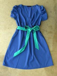 Periwinkle Summer Dress [2668] - $36.00 : Vintage Inspired Clothing & Affordable Summer Dresses, deloom   Modern. Vintage. Crafted.
