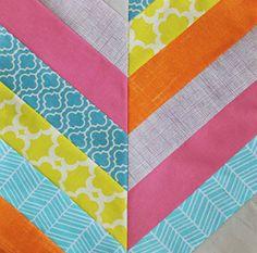 Tutorial: Herringbone quilt block · Quilting | CraftGossip.com