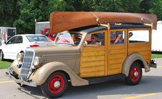 1935 Ford Woodie...Re-pin Brought to you by agents at #HouseofInsurance in #EugeneOregon for #LowCostInsurance.