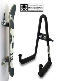 Grab & Go Pro Skateboard & Scooter Wall Hanger Rack Mounts Modern Vintage Long Completes
