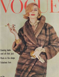 Vogue October 1961 COVER: Henry Clark MODEL: Tania Mallett