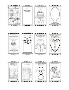hochzeit aufgabenbuch druckbare anpassbar von thecelebrationstudio - Kids Wedding Coloring Book