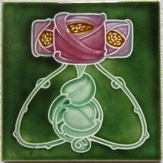 English Art Nouveau Tile - Marsden