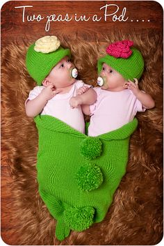 Very cute twin baby sisters.
