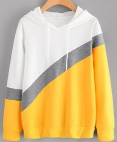 Jielur 2018 Autumn Chic New Spell Color Patchwork Hoodies for Women Pullover Loose Casual Hooded Female Sweatshirt Streetwear Pullover, Sweater Hoodie, Cute Hoodie, Kawaii Hoodie, Cute Sweatshirts, Hooded Sweatshirts, Teen Hoodies, Streetwear, Cute Outfits