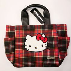 7b9a36aba Hello Kitty Tartan Handbag – Sanrio Monrovia Sanrio, Tartan, Diaper Bag, Hello  Kitty
