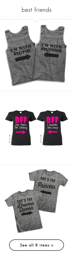 """""""best friends"""" by ashlyn-n-farley ❤ liked on Polyvore featuring tops, shirts, tanks, grey, women's clothing, gray tank, grey tank, loose fit tank top, drape shirt and gray shirt"""