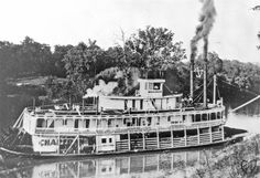 UW La Crosse Historic Steamboat Photographs: The packet Chaperon (1904-1917).