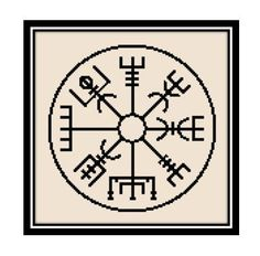 SIKA STITCH @ www.ETSY.com Viking Vegvisir Protection/Safe Travel Symbol [Cross Stitch] **Download PDF Pattern Only**