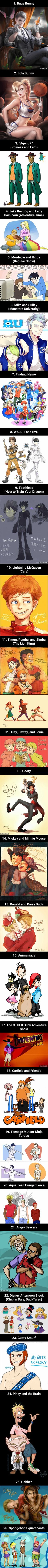 26 Non-Human Cartoon Characters As Humans Will Blow Your Mind