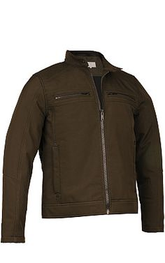 Wilsons Leather Fabric Open-Bottom Moto Jacket - #WilsonsLeather #men'sjacket