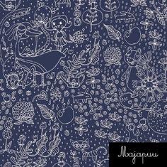Garden Tale / Majapuu design / sweater stretch cotton