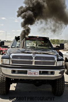 Cummins Diesel in a Dodge Ram Truck Rolling Coal Jacked Up Trucks, Dodge Trucks, Cool Trucks, Big Trucks, Pickup Trucks, Mudding Trucks, Dodge Pickup, Lowered Trucks, 2nd Gen Cummins