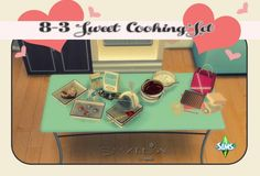 Sims 4 Designs: Sweet cooking set • Sims 4 Downloads