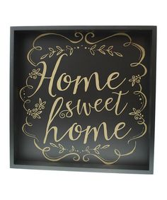Loving this Black & Gold 'Home Sweet Home' Wall Art on #zulily! #zulilyfinds