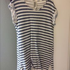 Free people Blue and white striped dress. Super soft/comfortable material. Worn twice, has pockets and is perfect for a beach day. Make me an offer! Free People Dresses Mini