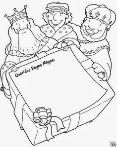 BAÚL DE NAVIDAD: Cartas coloreables para los Reyes Magos