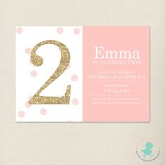 Etsy listing at https://www.etsy.com/listing/192574349/pink-and-gold-invitation-polka-dot-party
