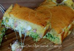 Rustico morbido zucchine prosciutto e scamorza.L'impasto molle è versatile, infallibile!Si può farcire oppure incorporare al composto gli ingredienti scelti