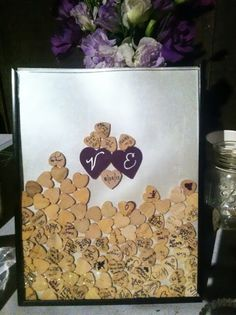 How to Make a Guest Book Picture Frame | Display, Drop and Books