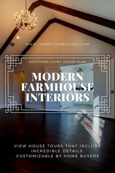 Browse incredible and inspiring southern homes built by The British Builder. Each Farmhouse, English Manor, Cottage, and Cabin contain southern charm with customizable details. Modern Farmhouse Lighting, Modern Farmhouse Interiors, Farmhouse Light Fixtures, Farmhouse Addition, Farmhouse Ideas, Southern Homes, Southern Charm, Southern Living House Plans, Home Improvement Contractors
