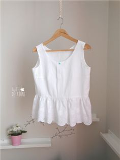 Sorbetto Colette Patterns Broderie anglaise