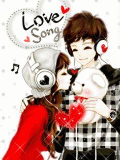 Cartoon Korean Couple