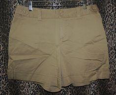 St. John's Bay Women's Biege Stretch Khakis Chino Shorts~Size 14P NWT JC Penny's #StJohnsBay #KhakiChino