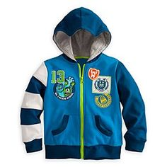 Disney Monsters University Hoodie for Boys | Disney StoreMonsters University Hoodie for Boys - Show your true colors with this Monsters University Hoodie for boys. Sulley and Mike feature on one of the school badges that adorn this too-cool-for-school jacket with sleeves that are as preppy as MU students.