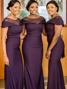 Petite Bridesmaids Dresses, African Bridesmaid Dresses, African Wedding Attire, African Wear Dresses, Bridesmaid Dress Colors, Wedding Bridesmaid Dresses, Braids Maid Dresses, African Traditional Wedding Dress, Lace Gown Styles