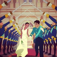 disney tiana wedding | Tiana and Naveen are the first Disney Princess couple to have wedding ...