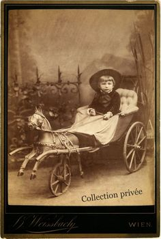 a toddler in a toy carriage Vintage Children Photos, Vintage Girls, Vintage Pictures, Old Pictures, Vintage Images, Old Photos, Antique Photos, Vintage Photographs, Victorian Photos