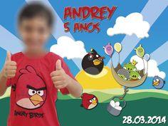 Arte imã de geladeira Angry Birds