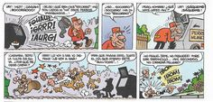 """Francisco Ibáñez: Viñetas de """"El Golpe"""", historieta incluida en el álbum """"Ceporros en Pleno Idilio"""" (Olé Ediciones B) y en el Super-Humor nº 23 (1º Edición 1995 - 6º Edición 2004)."""
