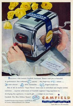 1944 Camfield Automatic Toaster ad.